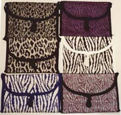 knitted animal print bags