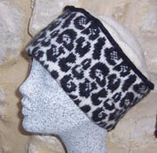 leopard print hat for knitters