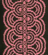 art deco offsetborder for knitting