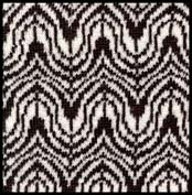 art deco optical illusion knitting design