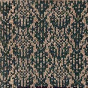 Ikat tapestry knitted design