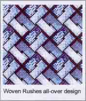 woven rushes design