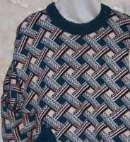 trellis design sweater